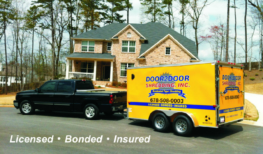 door 2 door shredding truck and trailer