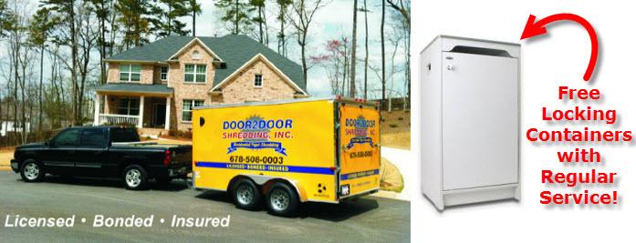 door 2 door shredding truck trailer and container arrow